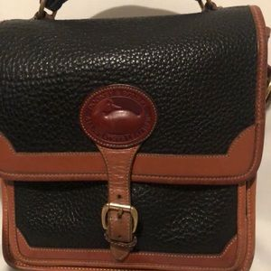 Vintage DOONEY & BOURKE Navy Tan Leather Small